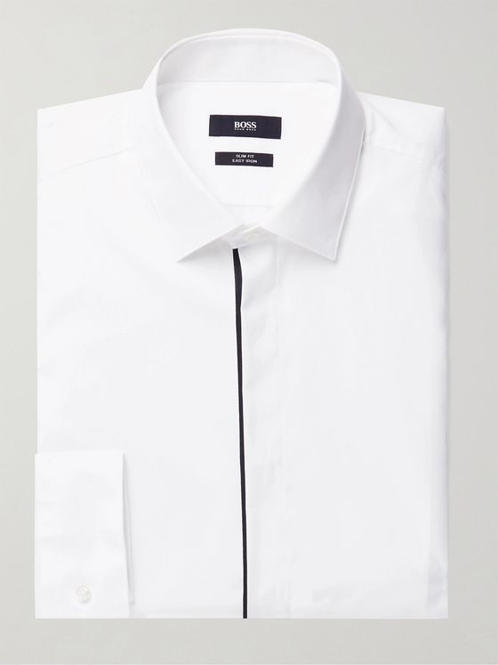 HUGO BOSS Javis Grosgrain-Trimmed Cotton Shirt