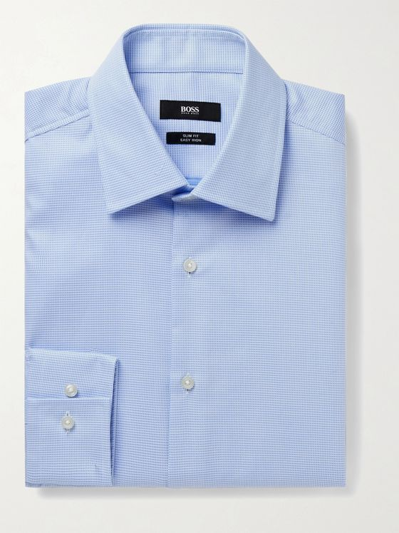 HUGO BOSS Jango Slim-Fit Cotton-Piqué Shirt