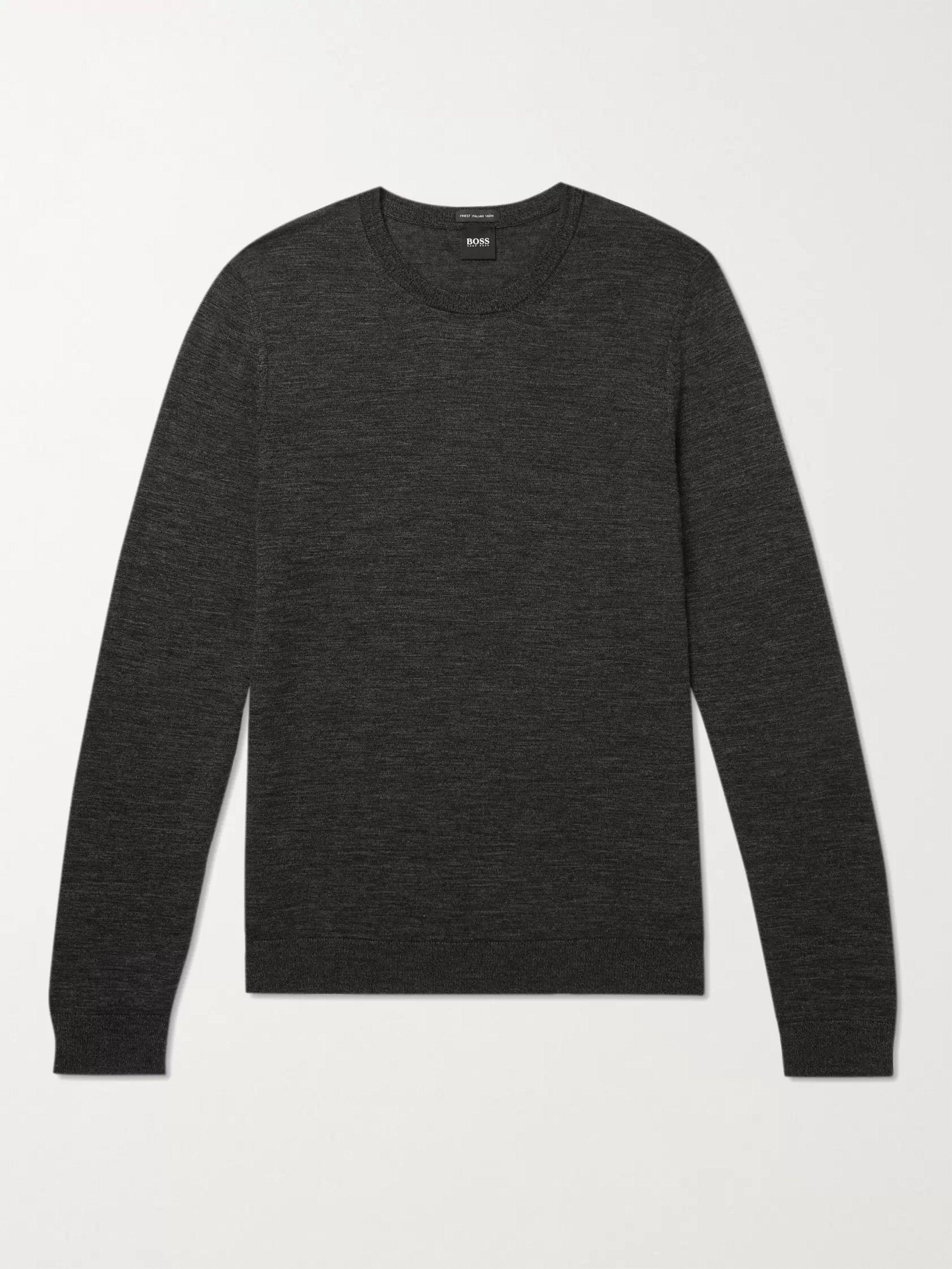 HUGO BOSS Slim-Fit Virgin Wool Sweater