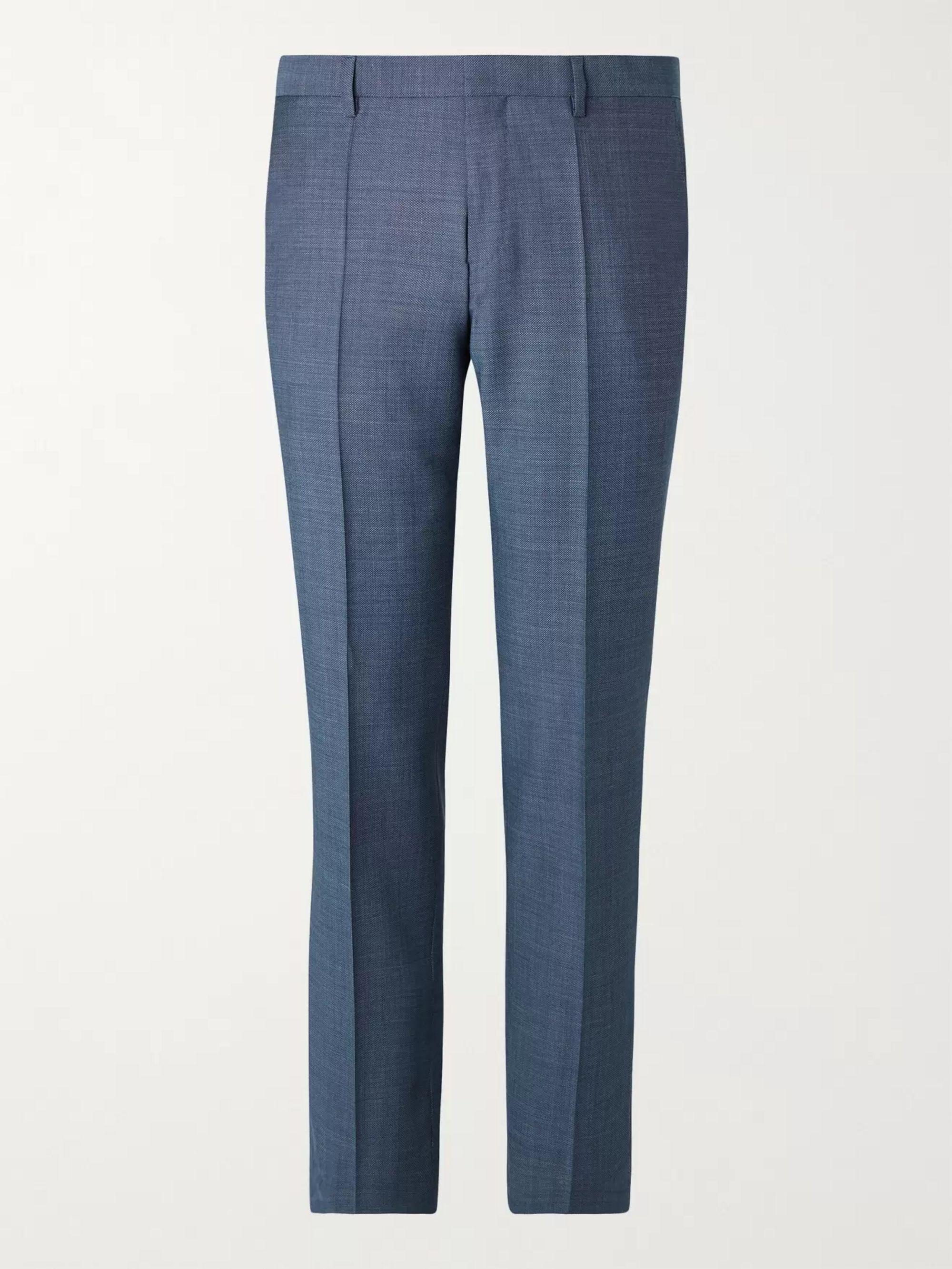 HUGO BOSS Genius Birdseye Virgin Wool Suit Trousers
