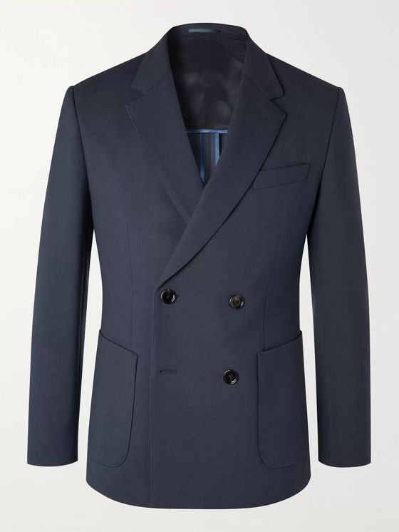 HUGO BOSS Slim-Fit Double-Breasted Woven Suit Jacket
