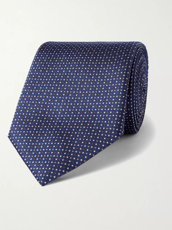 HUGO BOSS 7.5cm Pin-Dot Silk-Jacquard Tie