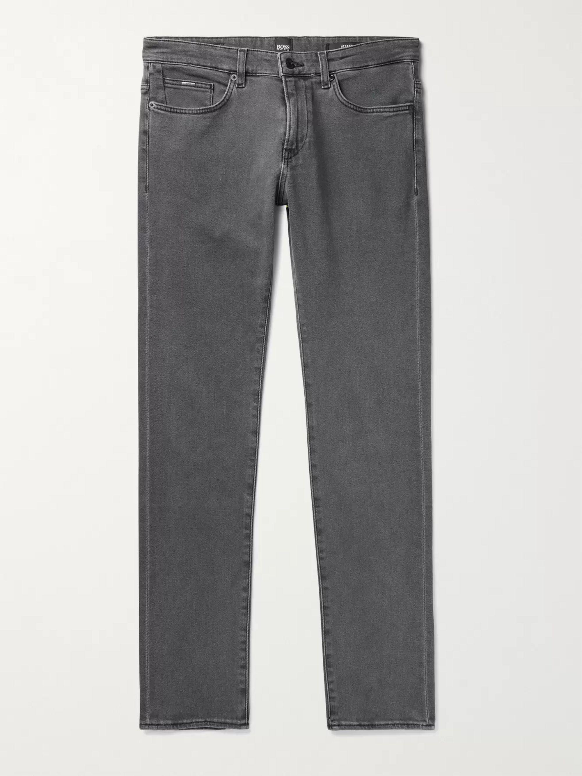 HUGO BOSS Delaware Stretch-Denim Jeans