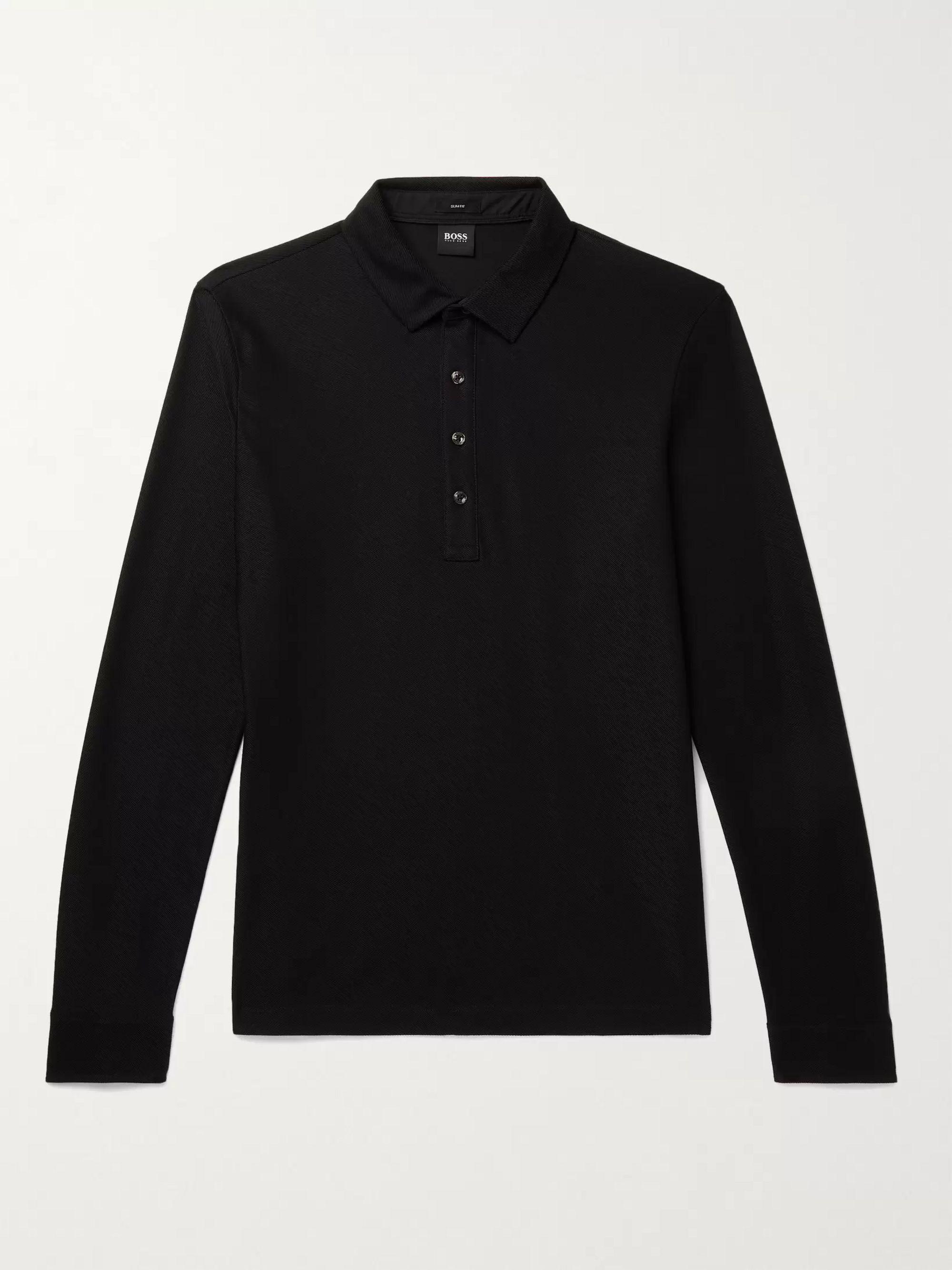HUGO BOSS Slim Fit Cotton Polo Shirt