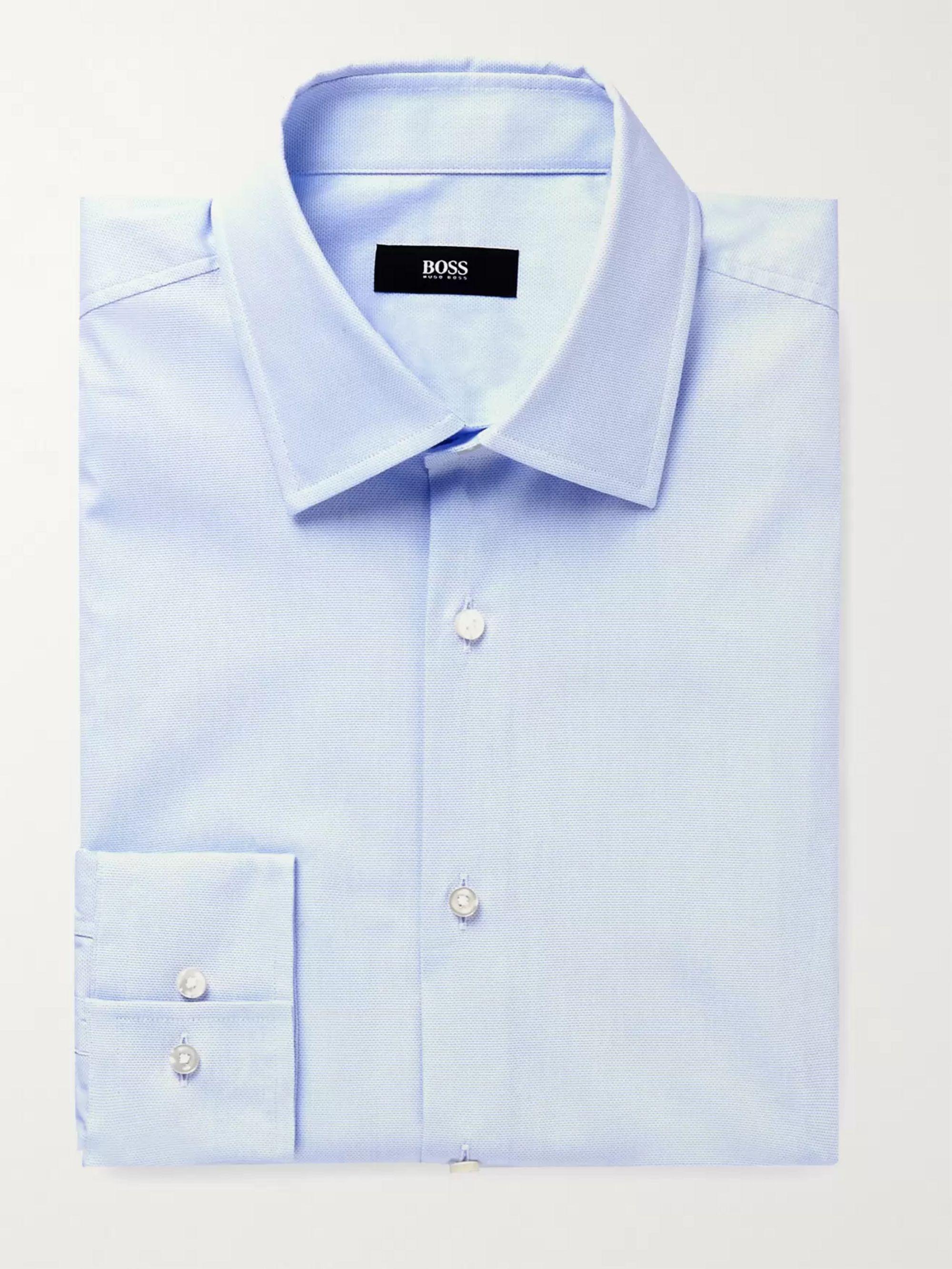 HUGO BOSS Jango Slim-Fit Cotton-Blend Pique Shirt
