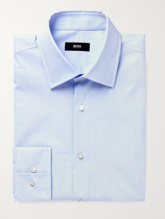 HUGO BOSS Jango Slim-Fit Cotton-Blend Piqué Shirt