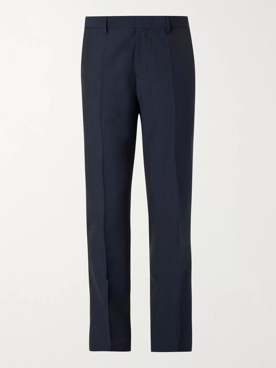 HUGO BOSS Genius Slim-Fit Micro-Checked Super 130s Virgin Wool Trousers