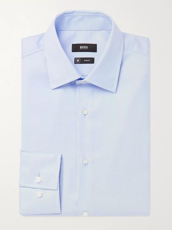 HUGO BOSS Jango Cotton-Jacquard Shirt