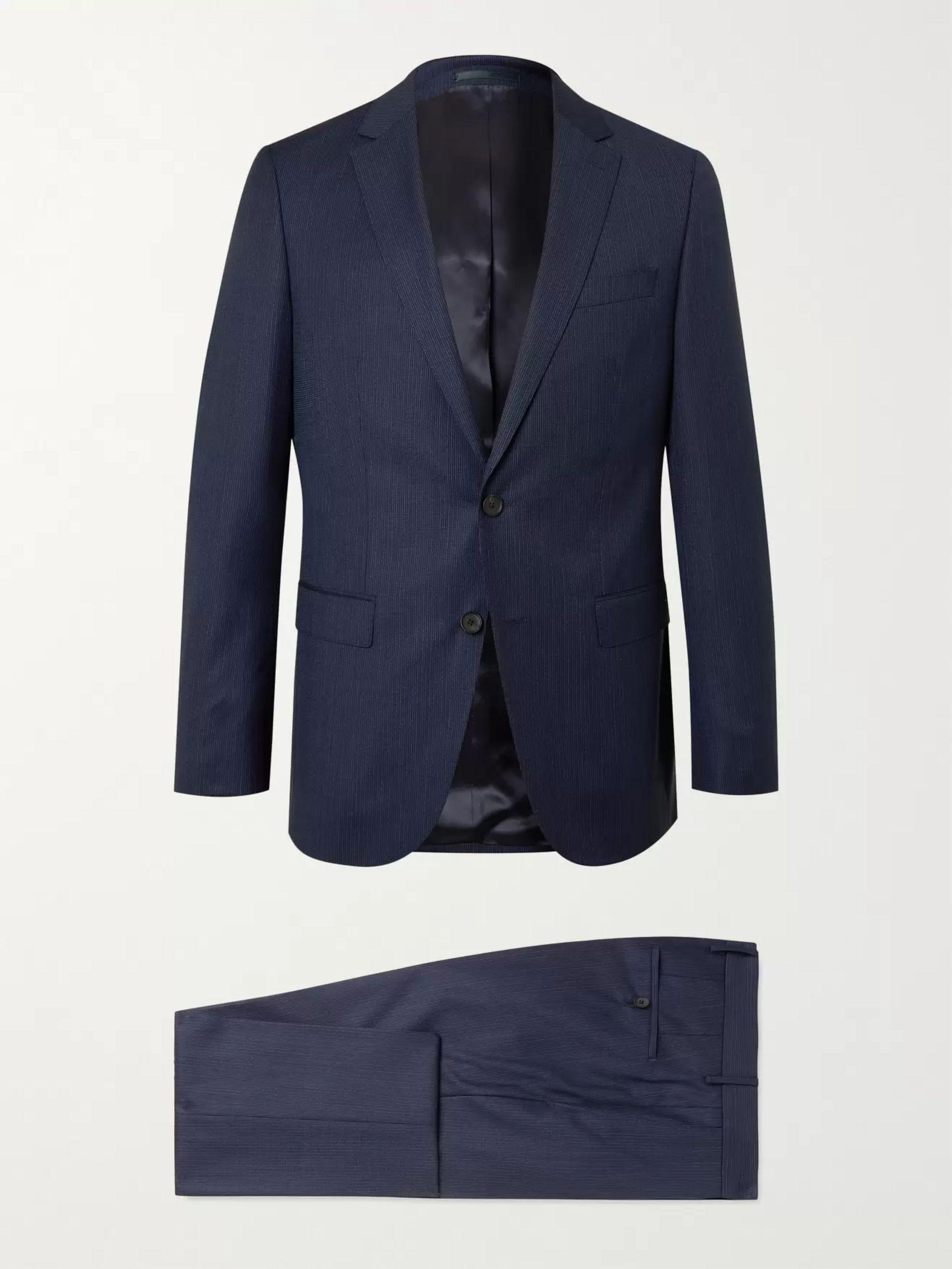HUGO BOSS Novan/ Ben Slim-Fit Pinstriped Virgin Wool Suit