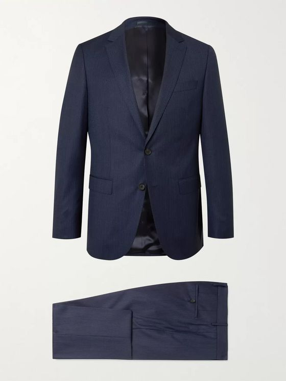 HUGO BOSS Novan/ Ben Slim-Fit Pinstriped Virgin Wool Suit