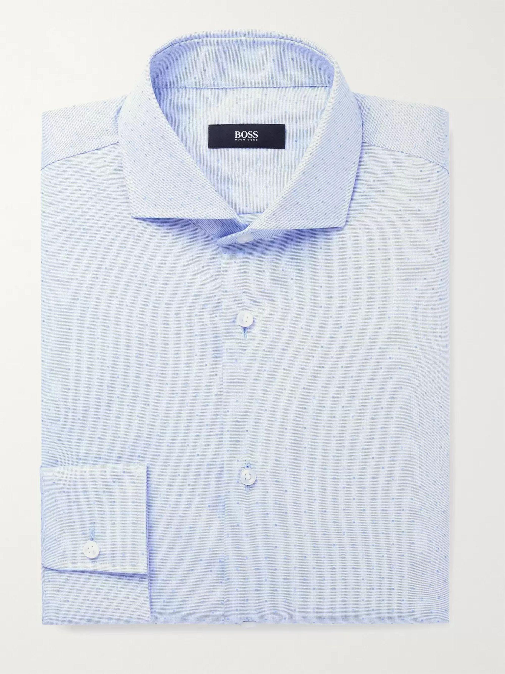 HUGO BOSS Jason Slim-Fit Cotton-Dobby Shirt