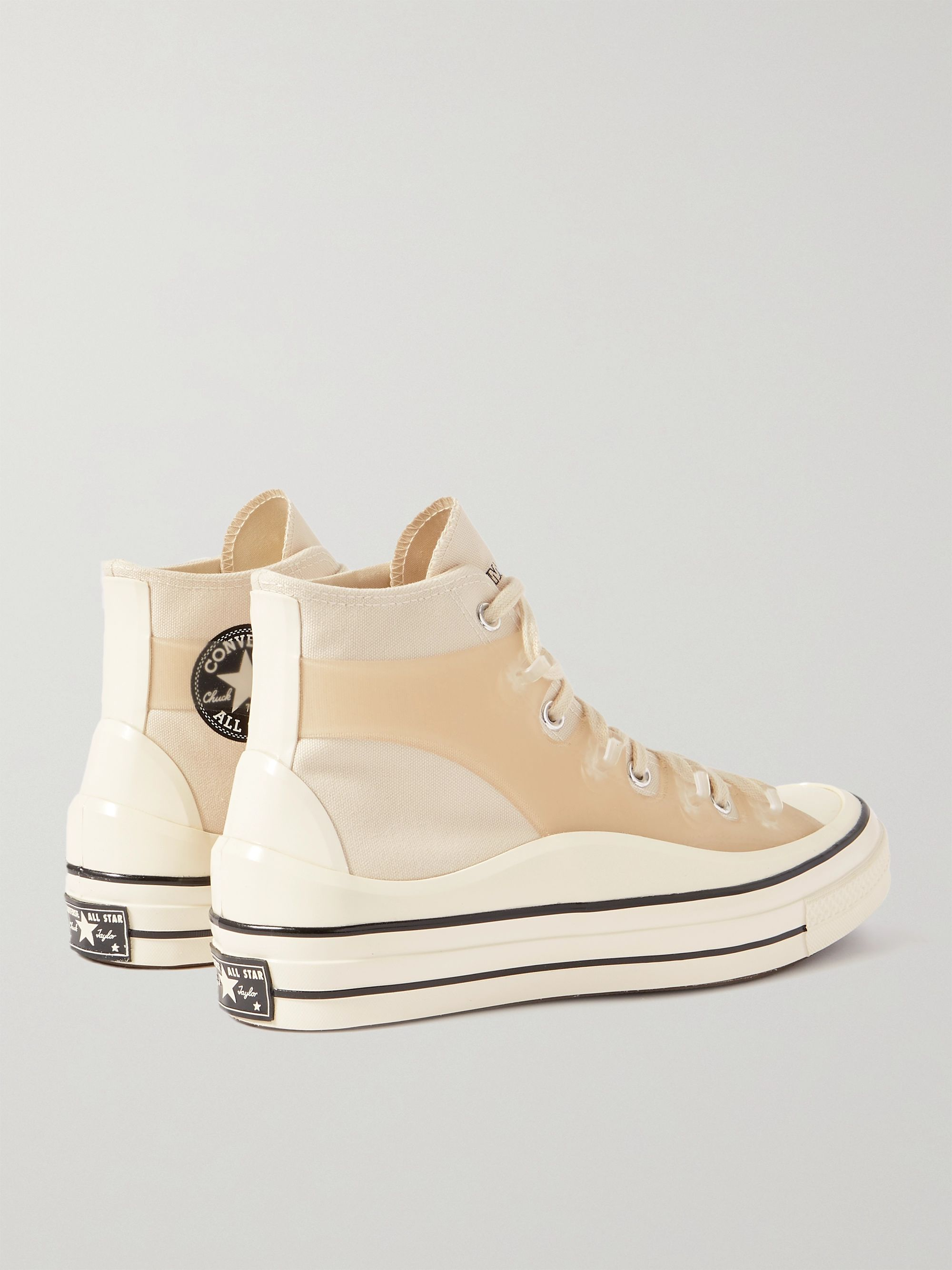 CONVERSE + Kim Jones Chuck 70 Canvas and Rubber High-Top Sneakers