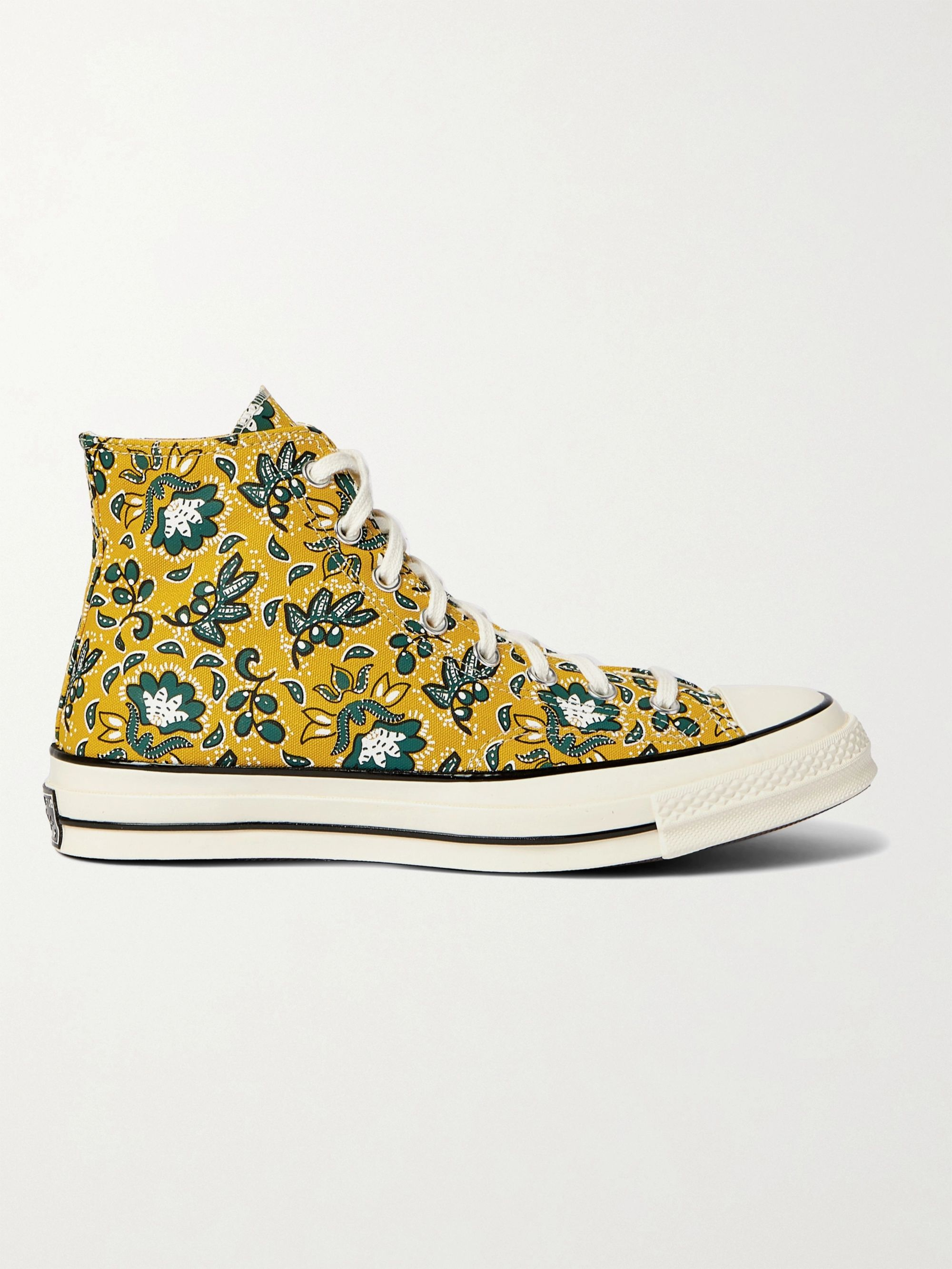 CONVERSE Chuck 70 Paisley-Print Canvas High-Top Sneakers