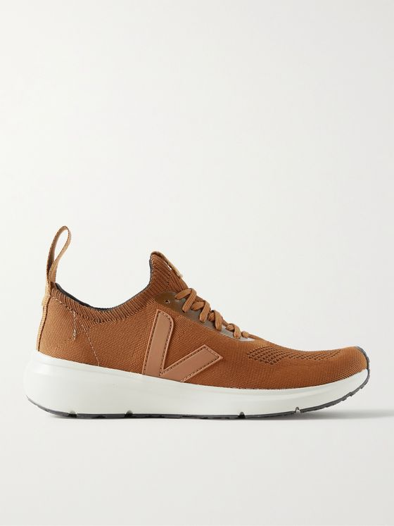 RICK OWENS + Veja Rubber-Trimmed Stretch-Knit Sneakers