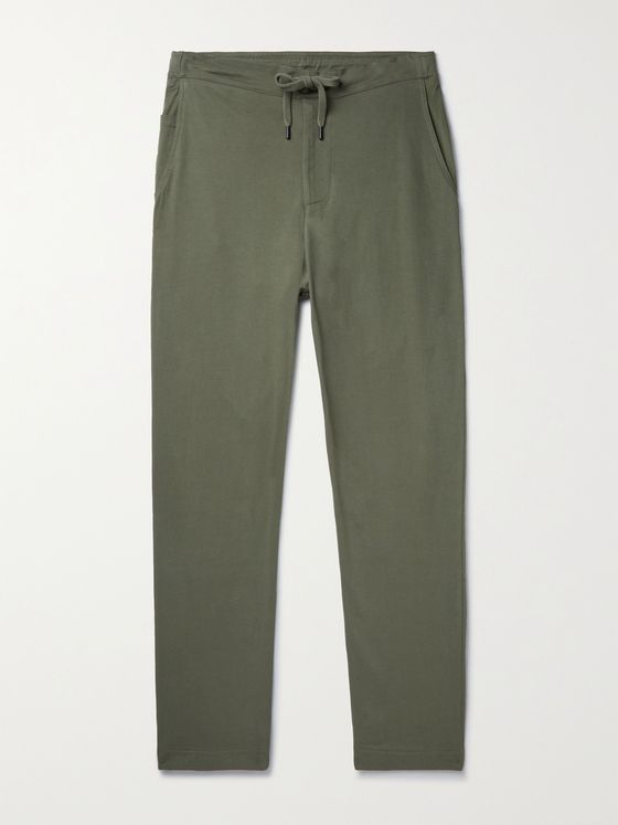 SCHIESSER Matthias Tapered Combed Cotton-Jersey Sweatpants