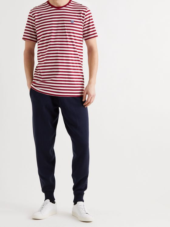 SCHIESSER George Striped Cotton-Jersey T-Shirt
