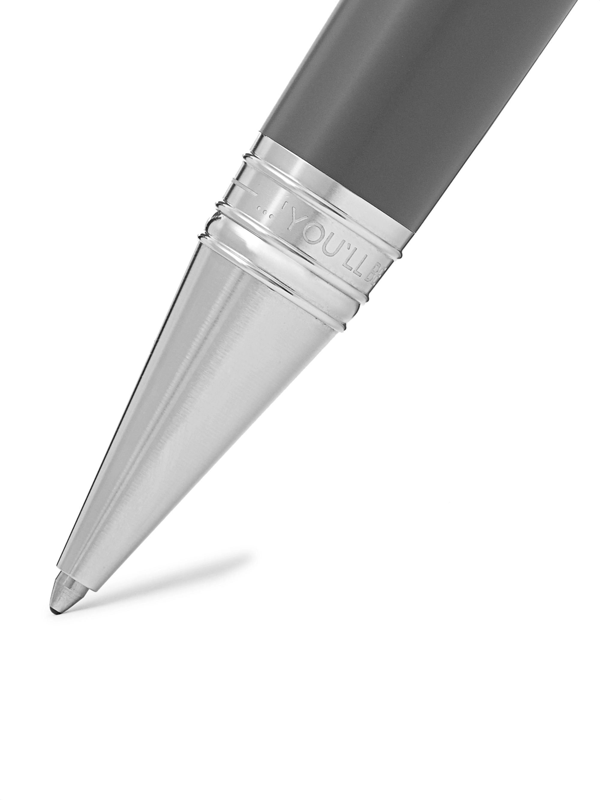 Montblanc Writers Edition Kipling Platinum-Plated and Resin Ballpoint Pen