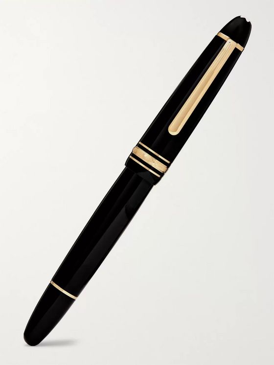MONTBLANC Meisterstück LeGrand Resin and Gold-Plated Fountain Pen