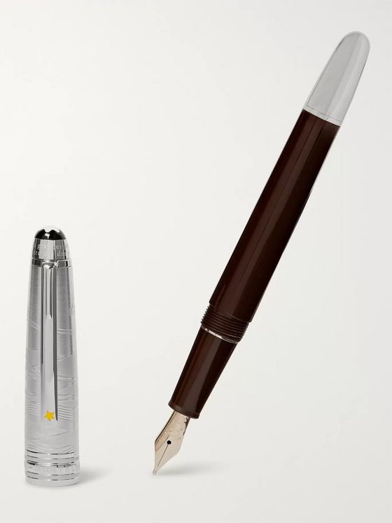 MONTBLANC Meisterstück Le Petit Prince Silver-Tone and Resin Fountain Pen