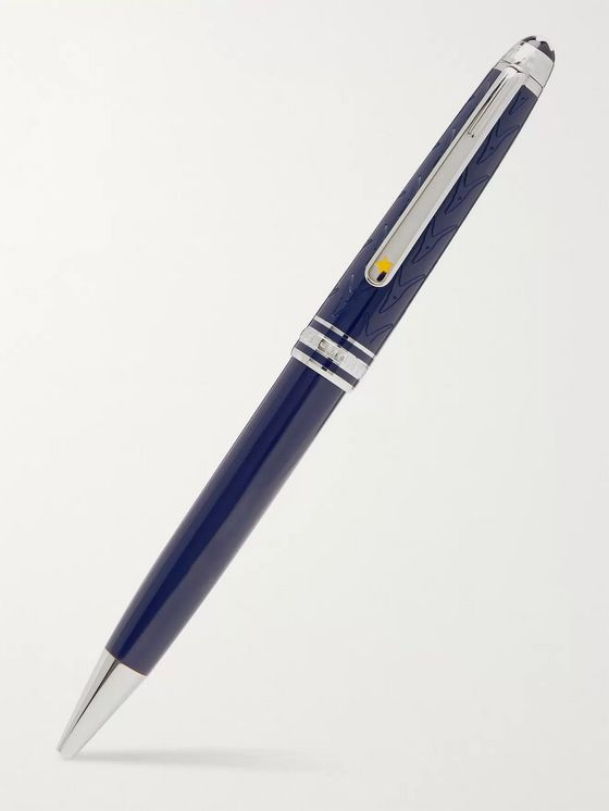 Montblanc Meisterstück Petit Prince and Fox Resin and Platinum-Plated Ballpoint Pen