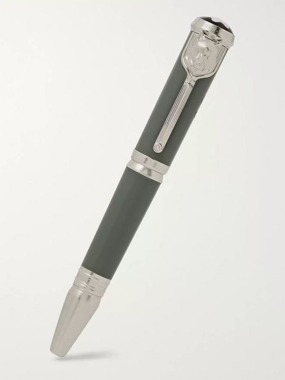 Montblanc Writers Edition Kipling Platinum-Plated and Resin Fountain Pen