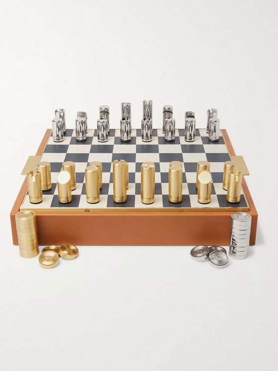 Ralph Lauren Home Fowler Leather Chess Set