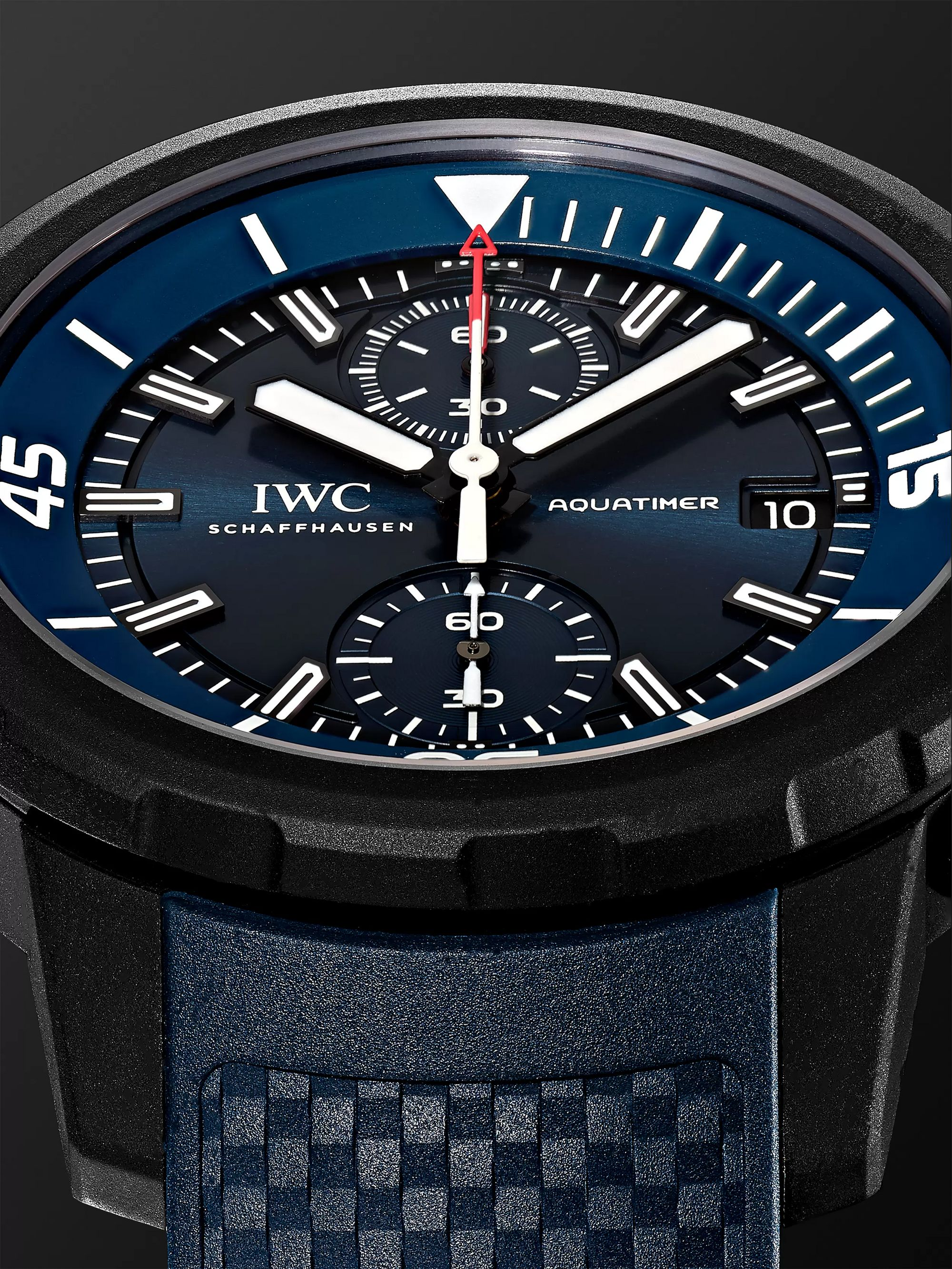 IWC SCHAFFHAUSEN Aquatimer Chronograph Laureus Sport For Good Limited Edition Chronograph 45mm Stainless Steel And Rubber Watch, Ref. No.
