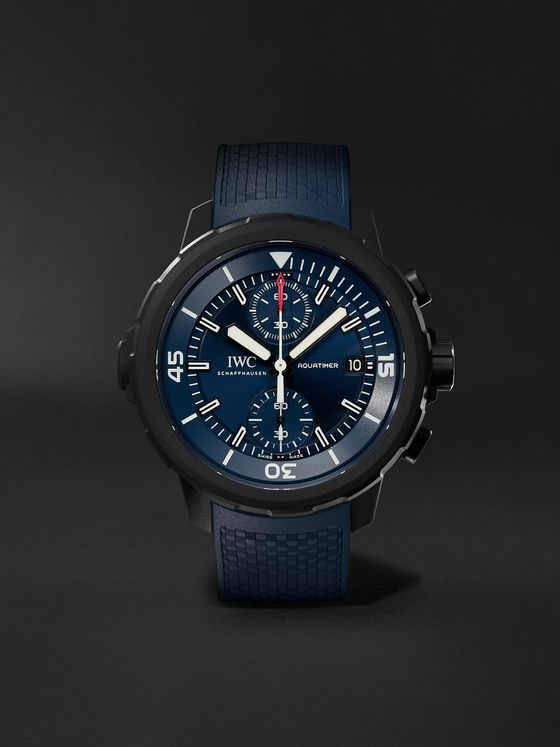 IWC SCHAFFHAUSEN Aquatimer Laureus Sport For Good Limited Edition Automatic Chronograph 45mm Stainless Steel And Rubber Watch, Ref. No. IW379507