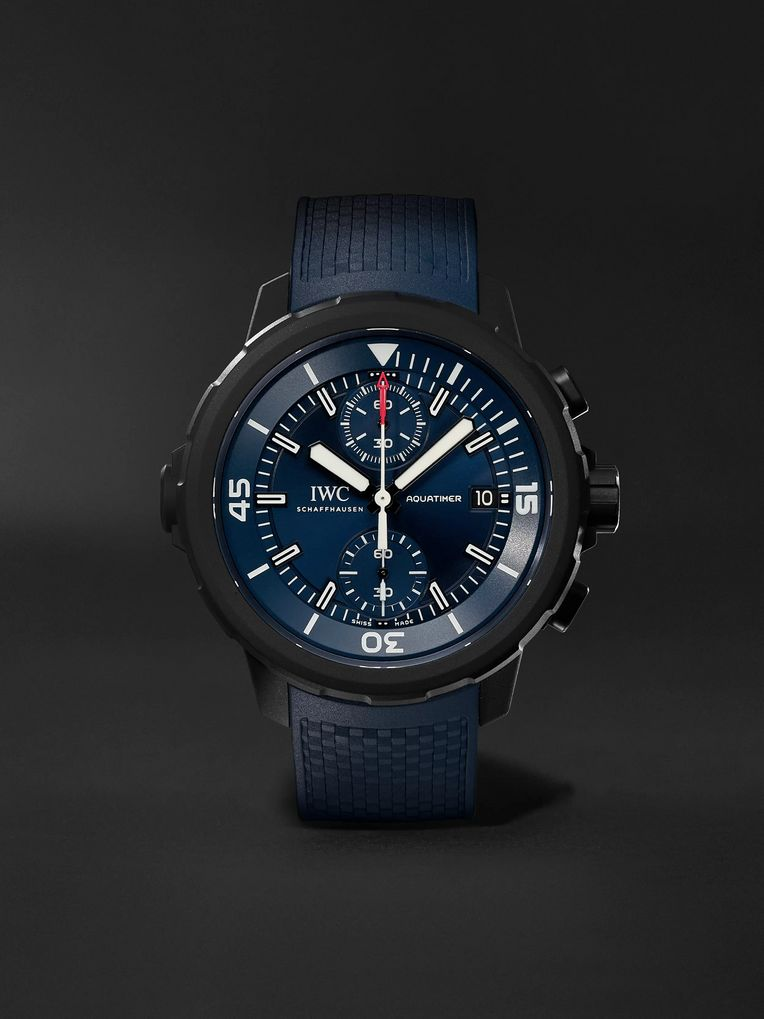 IWC SCHAFFHAUSEN Aquatimer Chronograph Laureus Sport For Good Limited Edition Chronograph 45mm Stainless Steel And Rubber Watch