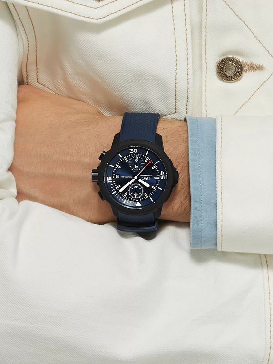 IWC SCHAFFHAUSEN Aquatimer Chronograph Laureus Sport For Good Limited Edition Chronograph 45mm Stainless Steel And Rubber Watch, Ref. No. IW379507
