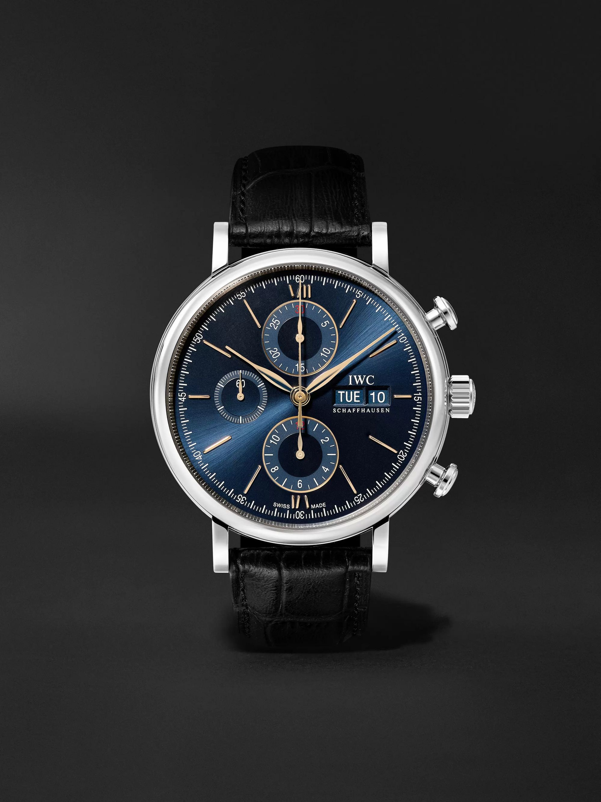IWC SCHAFFHAUSEN Portofino Automatic Chronograph 42mm Stainless Steel and Alligator Watch