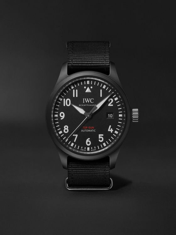 IWC SCHAFFHAUSEN Pilot's TOP GUN Automatic 41mm Ceramic And Webbing Watch
