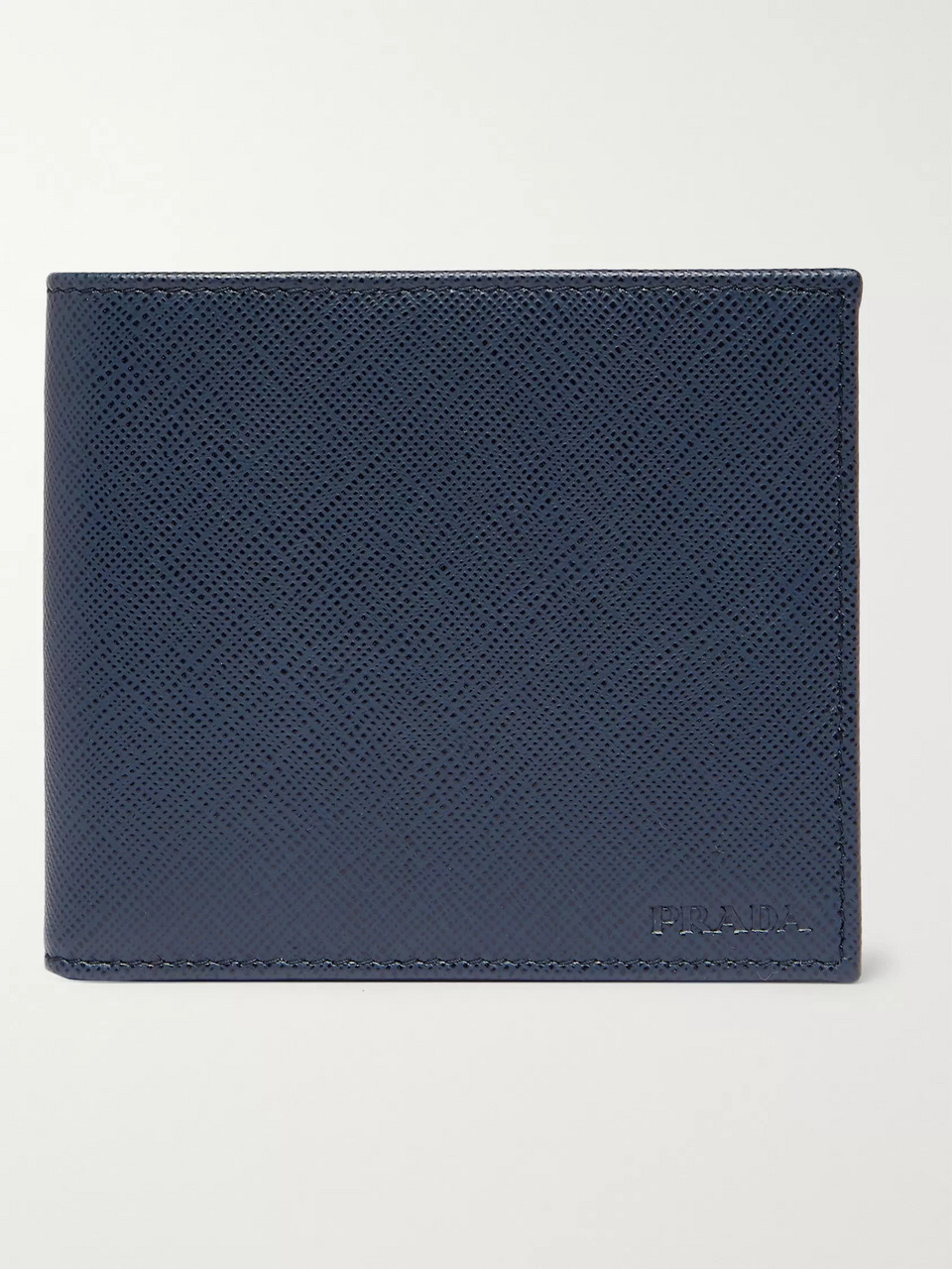 Prada Logo-Debossed Saffiano Leather Billfold Wallet