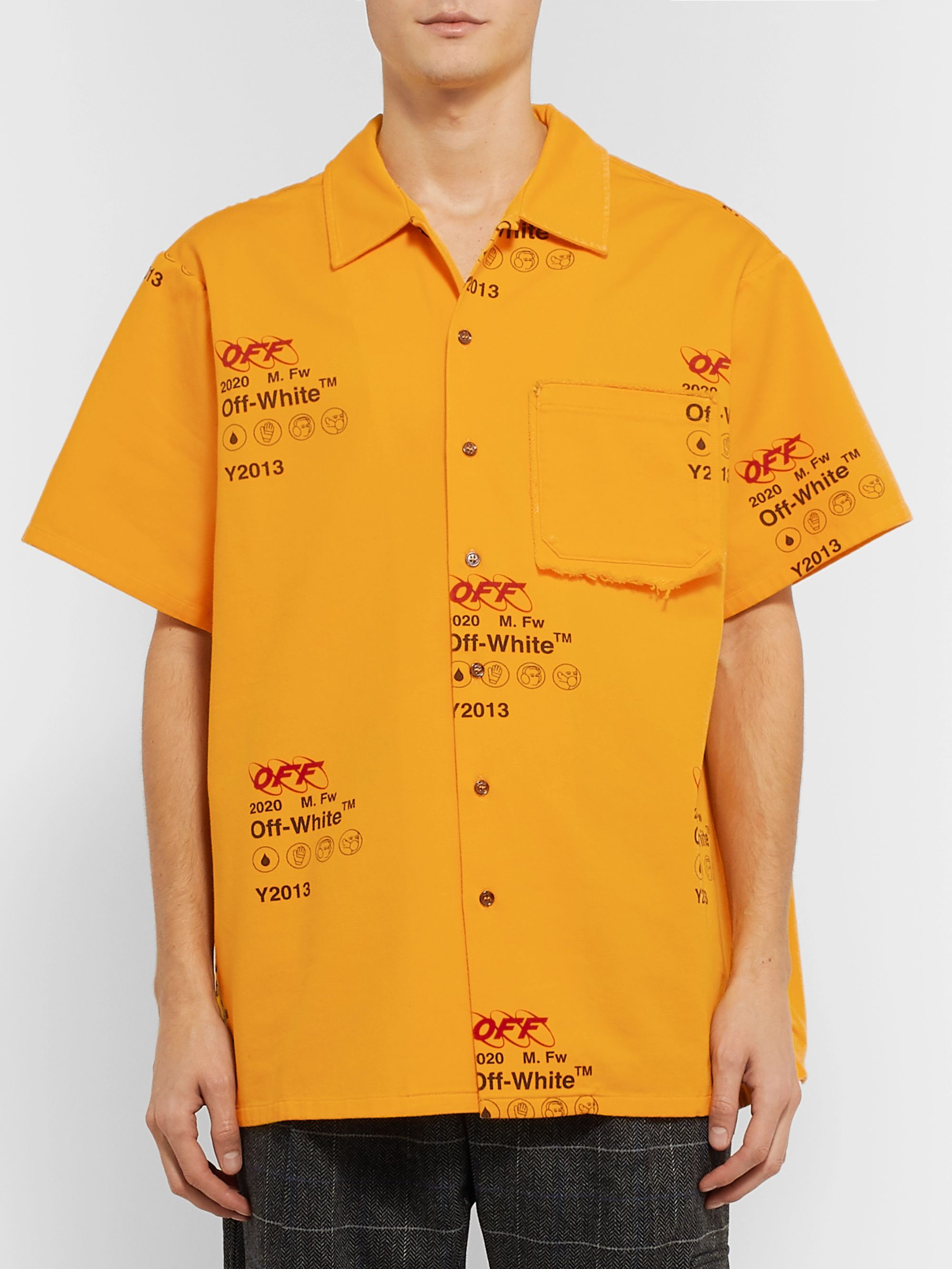 Off-White Logo-Print Cotton Shirt