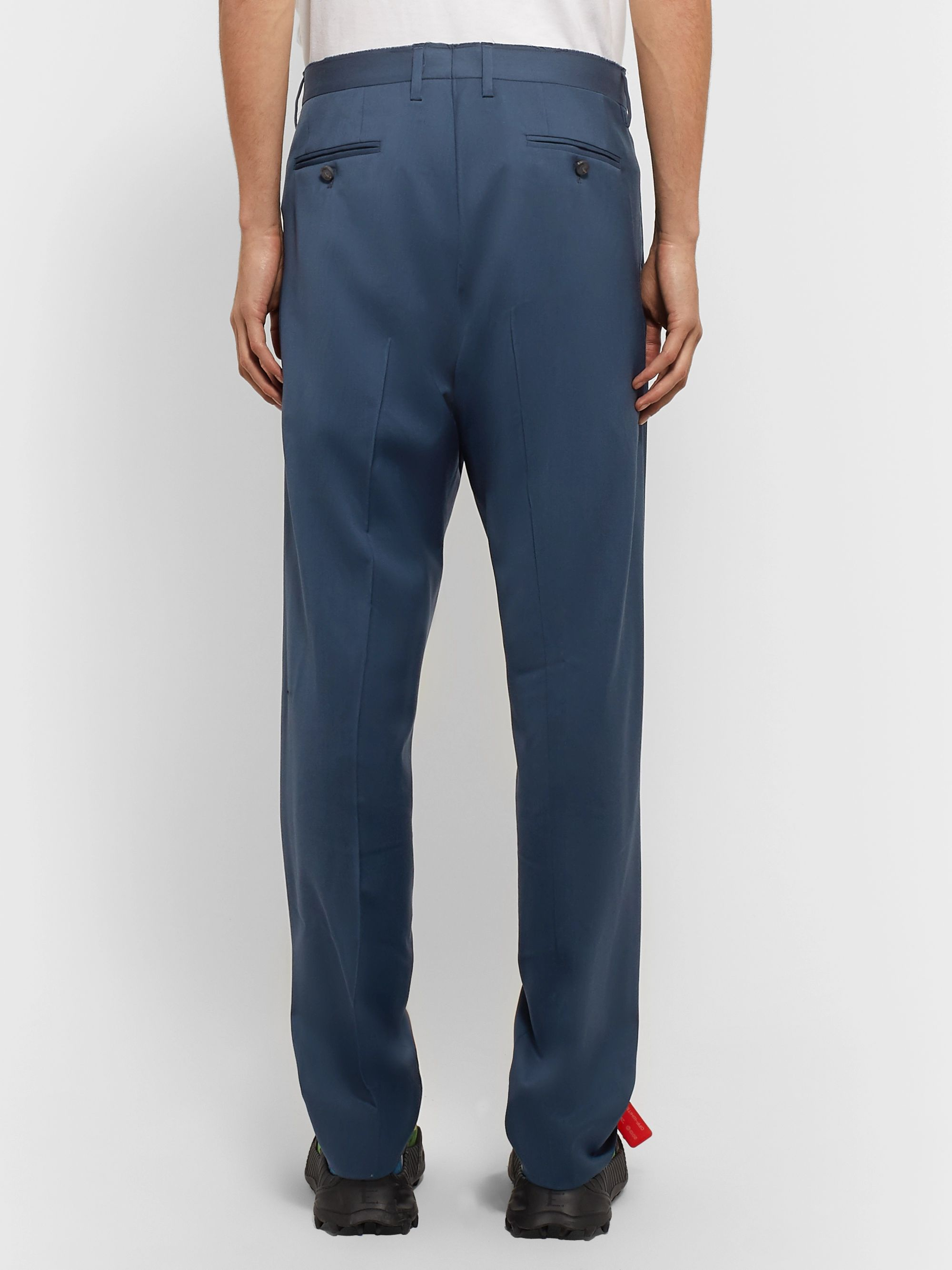 Off-White Pleated Virgin Wool Trousers