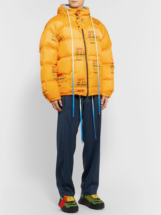 Off-White Logo-Print Quilted Shell Down Jacket