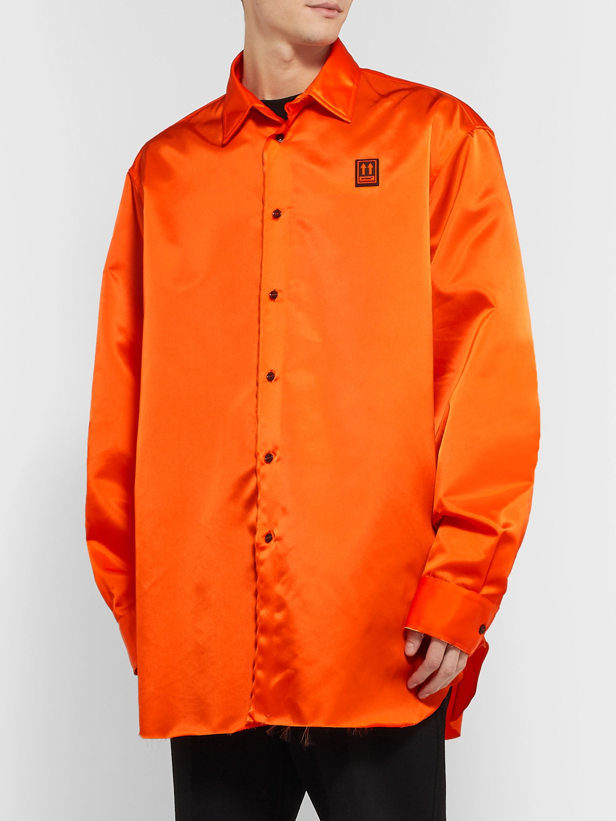 Off-White Oversized Logo-Appliquéd Nylon Shirt
