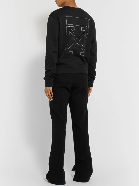 Off-White Logo-Embellished Loopback Cotton-Jersey Sweatshirt