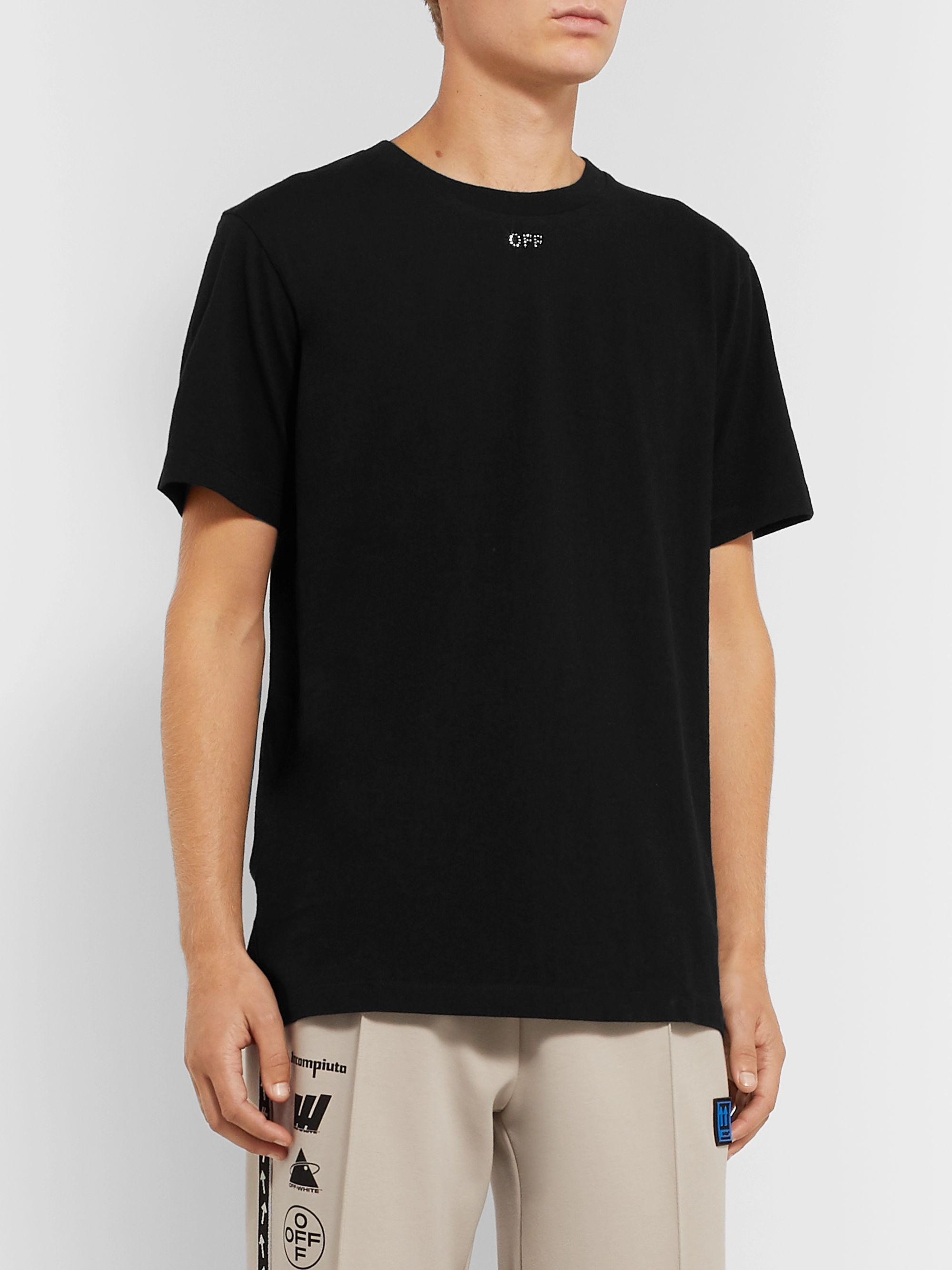 Off-White Logo-Embellished Cotton-Jersey T-Shirt