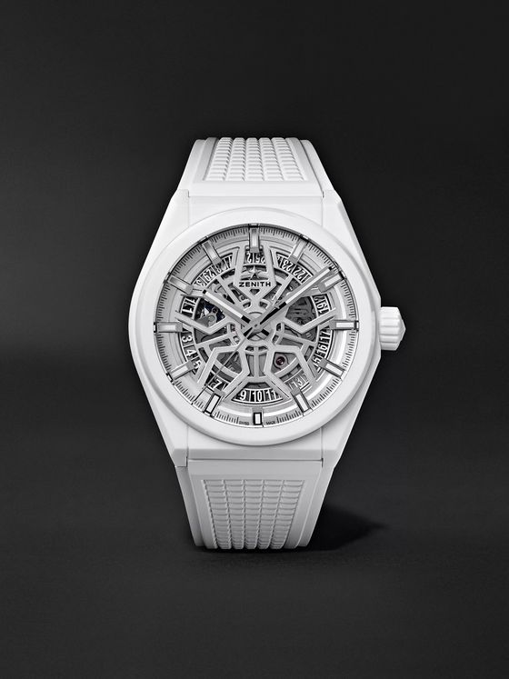 Zenith Defy Classic Automatic 41mm Ceramic and Rubber Watch