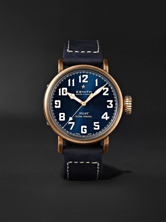 ZENITH Pilot Type 20 Extra Special Automatic 40mm Bronze and Nubuck Watch