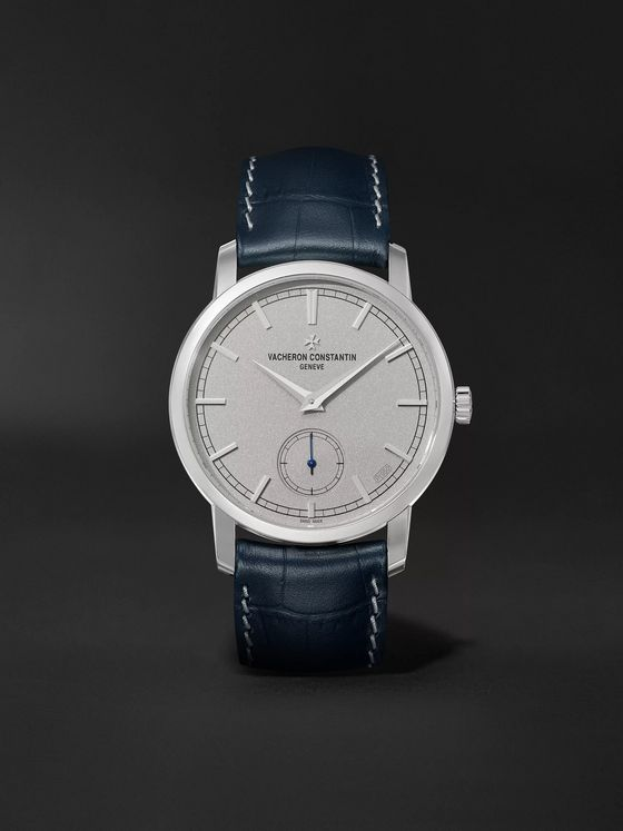 Vacheron Constantin Traditionnelle Excellence Platine Hand-Wound 38mm Platinum and Alligator Watch, Ref. No. 82172/000P-B527