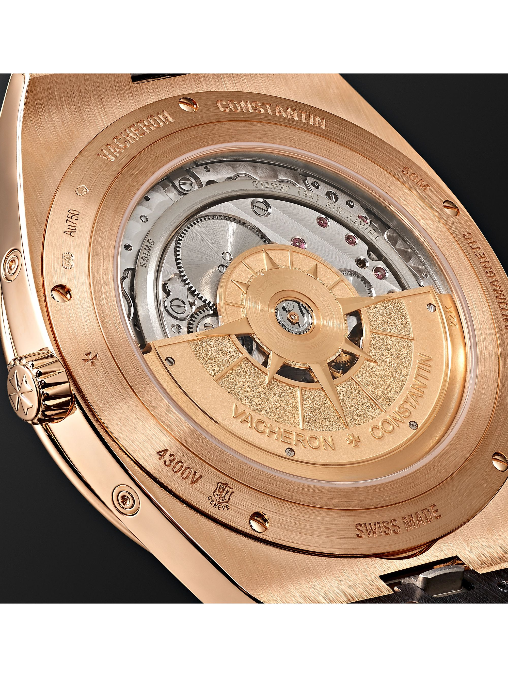 Vacheron Constantin Overseas Perpetual Calendar Ultra-Thin Automatic 41.5mm 18-Karat Pink Gold and Alligator Watch, Ref. No. 4300V/000R-B509