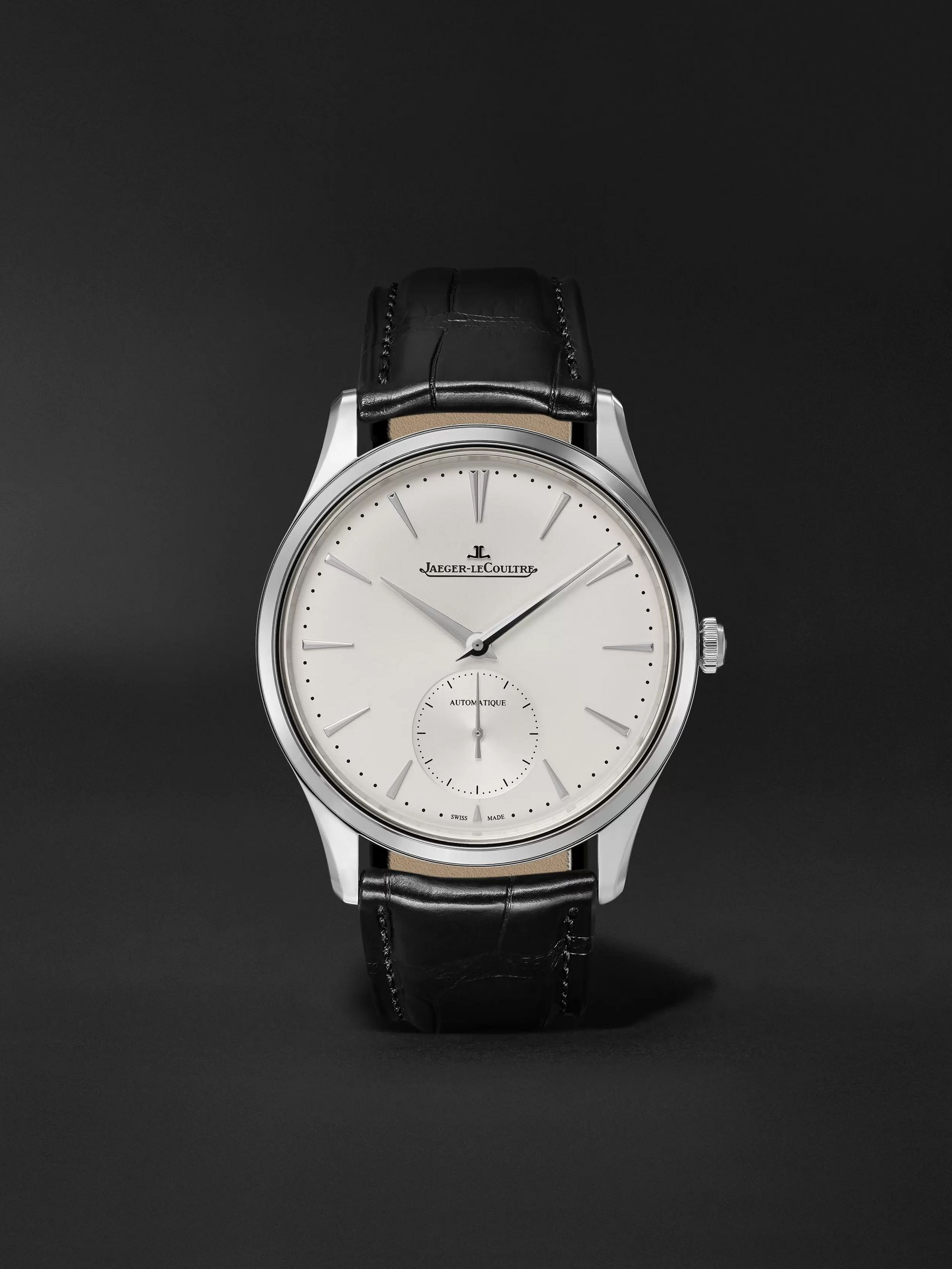 Jaeger-LeCoultre Master Ultra Thin Small Seconds Automatic 39mm Stainless Steel and Alligator Watch, Ref. No. Q1218420
