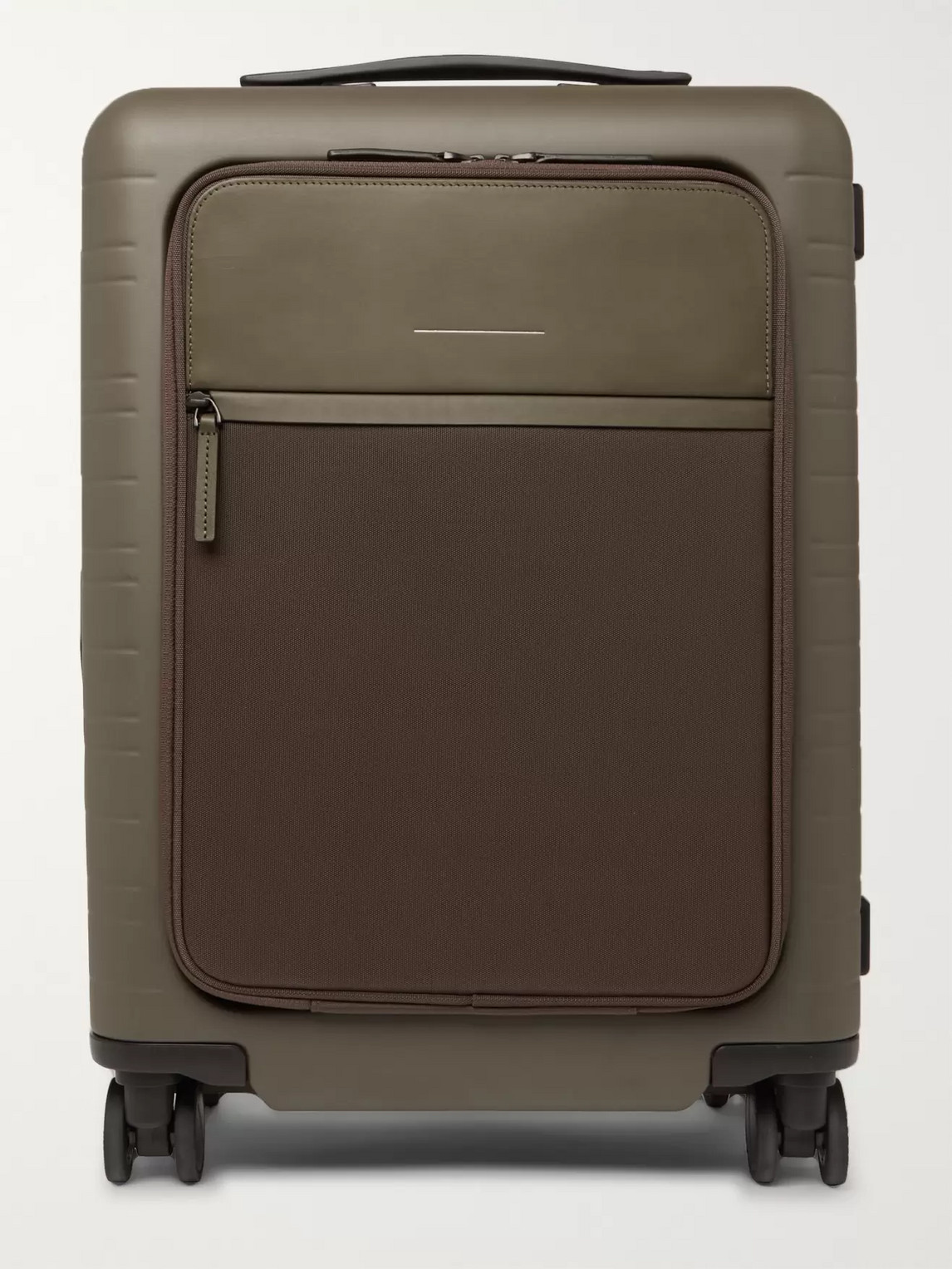 Horizn Studios M5 55cm Polycarbonate, Nylon And Leather Carry-on Suitcase In Green