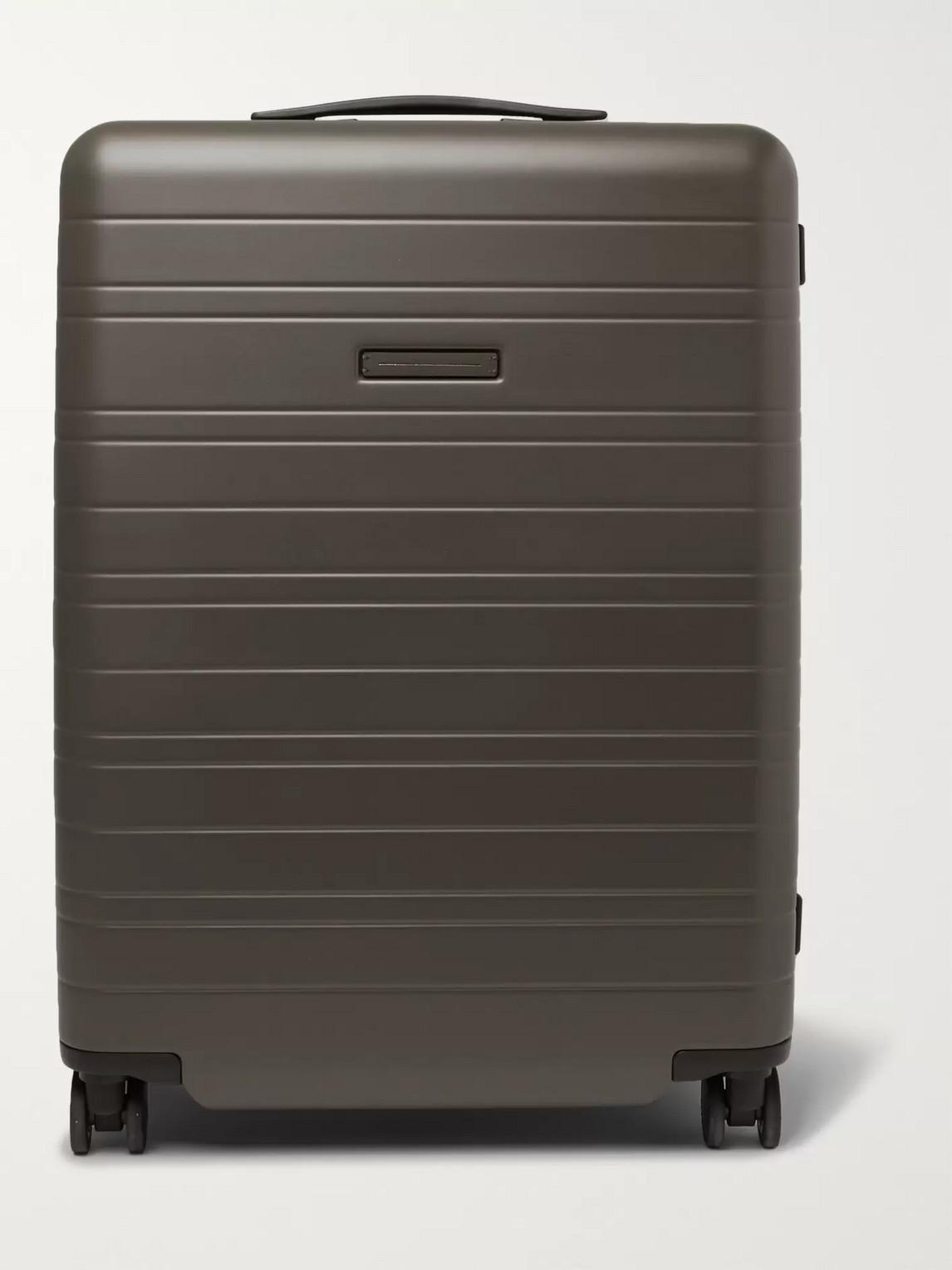 Horizn Studios H6 64cm Polycarbonate Suitcase In Green