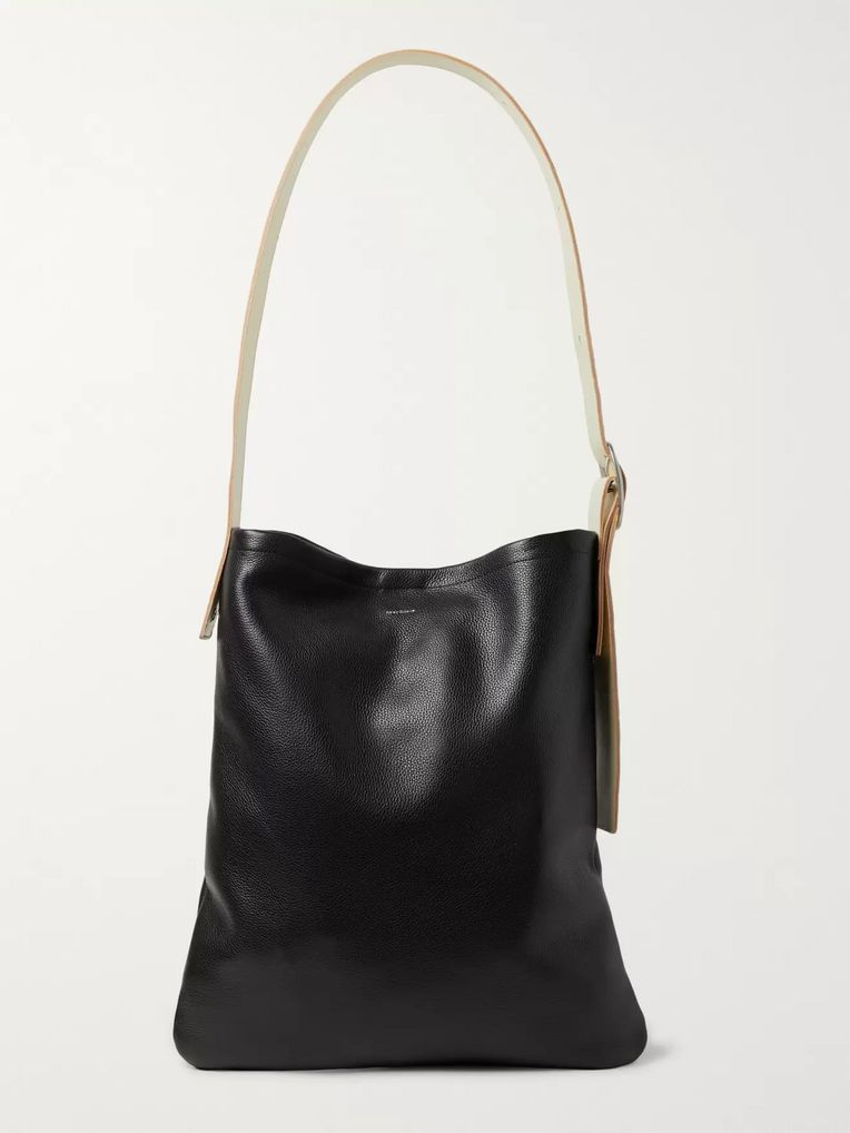 Hender Scheme Smooth and Full-Grain Leather Tote Bag