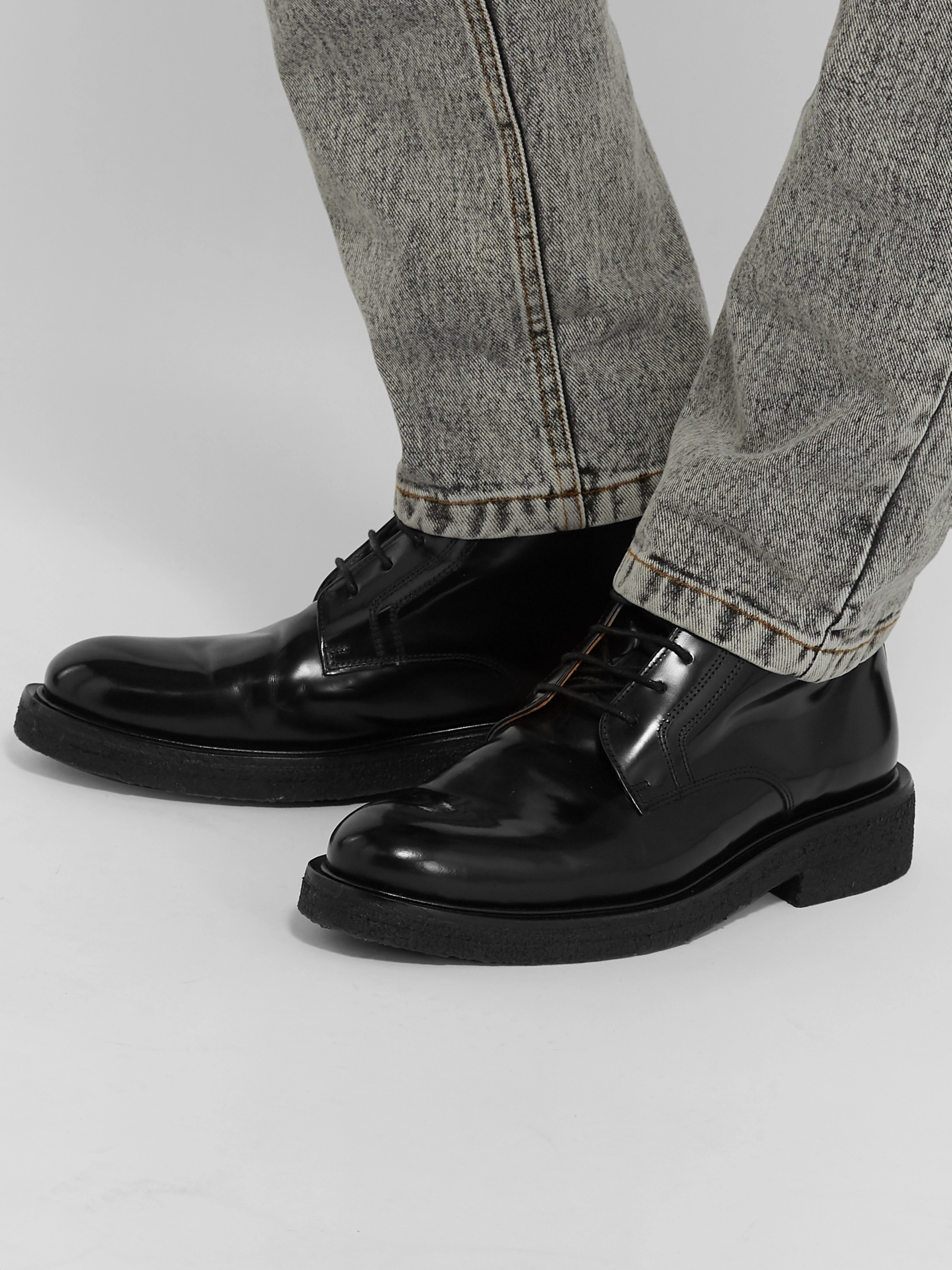 AMI Polished-Leather Boots