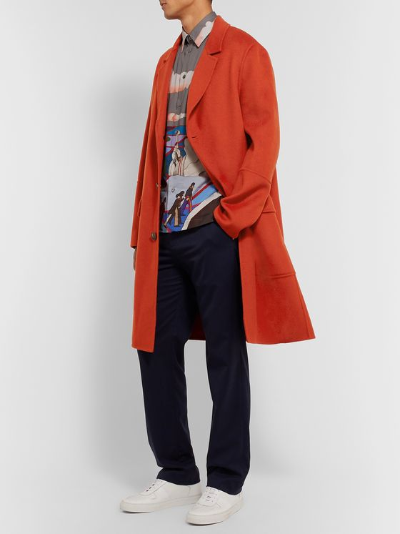 AMI PARIS Wool and Cashmere-Blend Coat