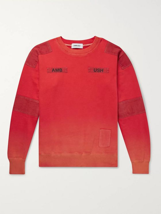 AMBUSH® Twill-Paneled Loopback Cotton-Jersey Sweatshirt